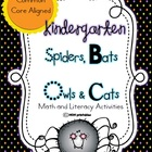 Spiders, Bats, Owls and Cats - A Kindergarten Common Core