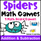 Spiders Math Games Addition and Subtraction