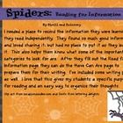 Spiders Read for Information