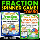 Spin 4 Cash & Spin 2 Win Fraction Games