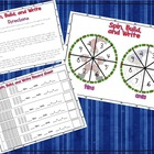 Spin, Build, Write Place Value