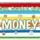 Spin, Graph &amp; Tally Money-Independent Math Station-Coin Id