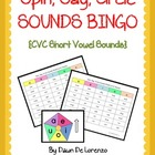 Spin, Say,Circle Sounds BINGO Word Work Center {CVC Edition}