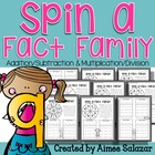 Spin a Fact Family (Add/Sub and Mult/Div)-Common Core Aligned