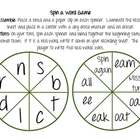 Spin a Word Vowel Team Game