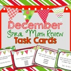 Spiral Math Review Task Cards-December