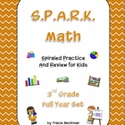 Spiraled STAAR/CCSS Math Review for 3rd Grade - Complete F