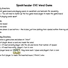 Spooktacular CVC Word Game