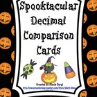 Spooktacular Comparing Decimals Cards