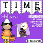 Spooktacular HalloweenTime Me!  Editable  Alphabet, Word,