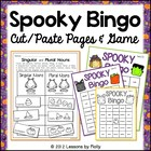 Spooky Bingo Not Too Scary Halloween Words