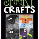 Spooky Crafts {Bat, Spider, Monster, and Scarecrow}