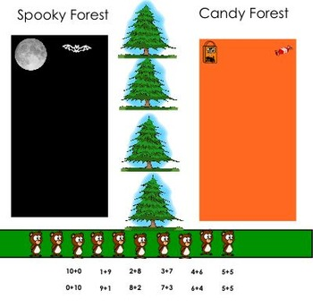 Spooky Forest Combinations of Ten Smart Board Game