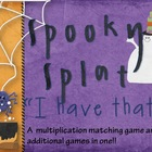 "Spooky SPLAT: ""I Have That!"" (A Multiplication Matching Game)"