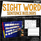 Spooky Sentence Building {Sight Word Sentence Activities f