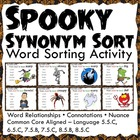 Spooky Synonyms Word Sorting Activity