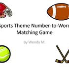 Sporst Theme Number to Word Matching Game