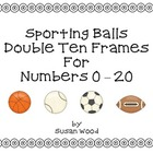 Sporting Balls Double Ten Frames