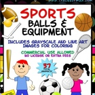 Sports Balls &amp; Equipment Clip Art Graphics For Commercial Use