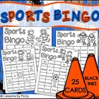 Sports Bingo Athletes Competitors and Champions Black and