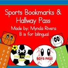 Sports Bookmarks & Hallway Pass (English & Spanish)