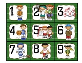 Sports Classroom Calendar Numbers