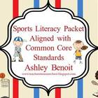 Sports Common Core Literacy Packet {15 Centers}