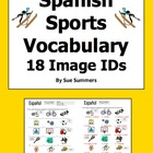 Sports & Equipment - 18 Spanish Vocabulary IDs Worksheet