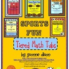 Sports Fun Tiered Math Tubs (The Complete Set of Five)