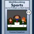 Sports Mathbooking - Math Journal Prompts and Game 2nd & 3rd