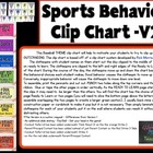 Sports Theme (Baseball) Behavior Clip Chart -Version 2 Cus