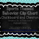 Sports Themed Behavior Clip Chart with Chevron and Chalkbo