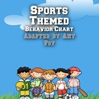 Sports Themed Behavior Clip Chart