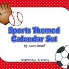 Sports Themed Calendar Set {FREEBIE}