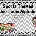 Sports Themed Classroom Alphabet with Chevron