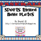 Sports Themed Name Plates