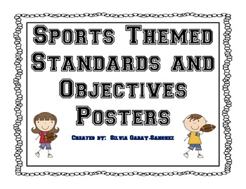 Sports Themed Standards and Objectives Posters