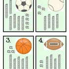 Sports Unit for Math Centers: Base Ten, Mental Math, Ten Frames