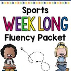 Sports Weeklong Fluency Packet - Week 3 of April Packet