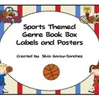 SportsThemed Genre Book Basket Labels and Posters