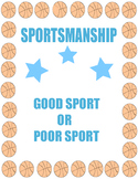 Sportsmanship: Good Sports and Poor Sports Choice Cards -