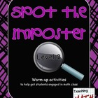 Spot the Imposter - Level 2 - A Warm-up Math Activity