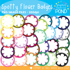 Spotty Flower Badges / Circle Frames - FREE Graphics