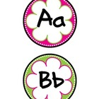 Spotty Flowers Word Wall Letters