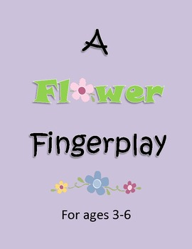 Spring: A Fun Finger Play!