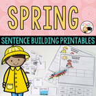 Spring Activities Sentence Building Word Work