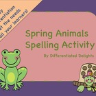 Spring Animal Spelling
