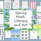 Spring Art, Literacy, and Math Packet Printables for Cente