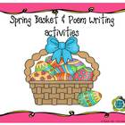 Spring Basket & Poem Writing Activities