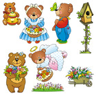 Spring Bears Clip Art Graphics
